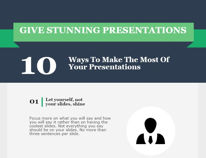 Giving stunning presentations – Infographic